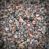 Detailed Background Texture Of Wet Gravel