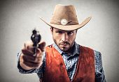 picture of bandit  - portrait of bandit with gun - JPG