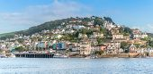 stock photo of dartmouth  - Kingswear crossing ferry point to Dartmouth in Devon - JPG