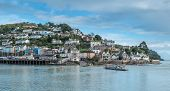 stock photo of dartmouth  - Kingswear ferry crossing to Dartmouth in South Devon - JPG