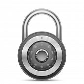 image of combination lock  - Security combination lock - JPG