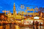 picture of weihnachten  - Traditional christmas market in Vienna - JPG