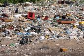 stock photo of landfills  - Environmental issue  - JPG