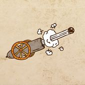 picture of cannon-ball  - Shooting Cannon - JPG