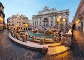 stock photo of fountains  - Trevi fountain - JPG