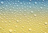 foto of condensation  - Background of water drops on glass - JPG