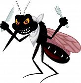 image of gnats  - Vector illustration of Mosquito cartoon ready for eat - JPG