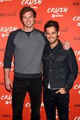 LOS ANGELES - NOV 6:  Derek Theler and Jean-Luc Bilodeau at the CRUSH by ABC Family Clothing Line La