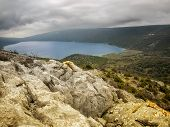 picture of natural phenomena  - Beautiful view of the natural phenomena such as the Vrana Lake on Cres Croatia - JPG
