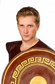 picture of perseus  - a image of the Greek warrior with a shield - JPG