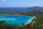 stock photo of thomas  - Blue water and scenery of Magens Bay on St - JPG