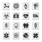 Rectangular medical icons