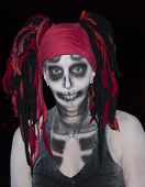 foto of dreads  - Woman dressed up for Halloween - JPG