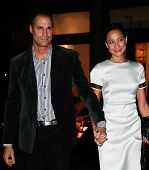 NEW YORK- NOV 6: TV personality Nigel Barker and wife Cristen attend a screening of 'Thor' at the Cr