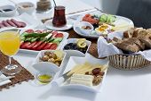 Rich and delicious Turkish breakfast