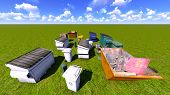 image of dumpster  - Dumpsters and skips on the grss - JPG