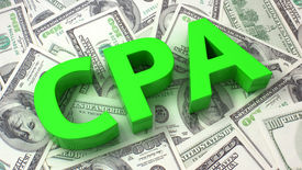 foto of cpa  - Word CPA on the background of one hundred dollar bills - JPG