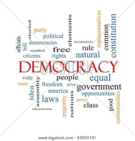 Democracy Word Cloud Concept