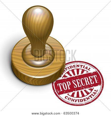 Top Secret Grunge Rubber Stamp