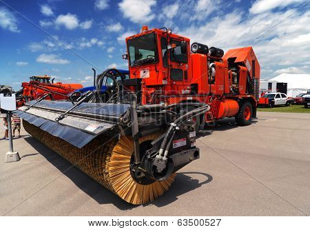 Red Airport Sweeper