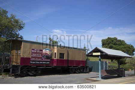Napa Valley Railroad wine train station in Yountville