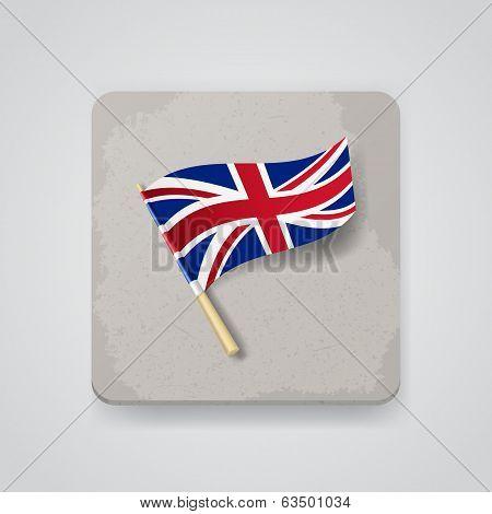 Great Britain flag, vector icon