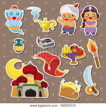 Artoon Lamp Of Aladdin Stickers