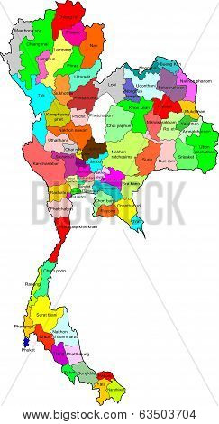 Thailand color map