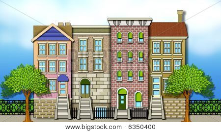 Apartment Row Houses