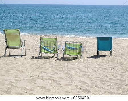 Four Deck Chairs