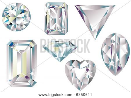 Different cut diamonds