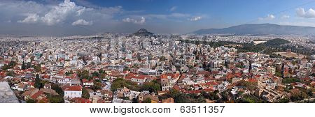 Panoramic View Of The City Of Athens, Greece