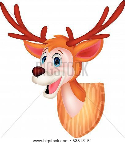 Deer head cartoon