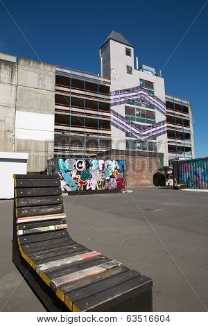 Restart Mall Gap Filler Art, Christchurch, New Zealand