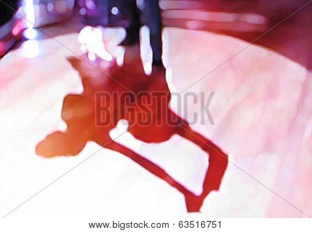Ballroom dance floor abstract eighteen digital painting
