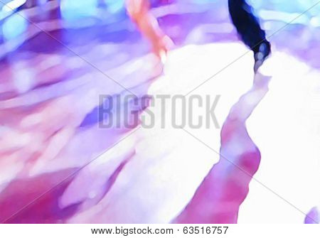 Ballroom dance floor abstract nineteen digital painting