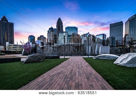 Colorful Romare-Bearden Park
