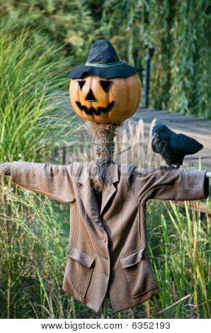 Scarecrow with Pumpkinface