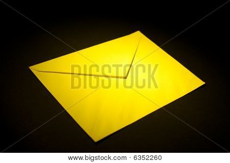 Envelope With Yellow Light