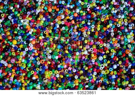 Hundreds of colorful beads