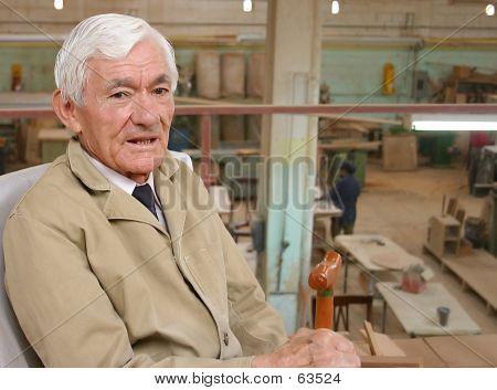 Carpenter During A Break