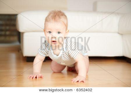 Baby On A Floor