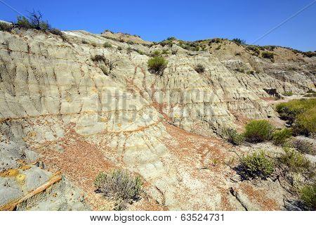 Badlands Escarpment In Summer