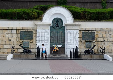 Monument To Heroes Of The Black Sea Fleet Squadron In Sevastopol