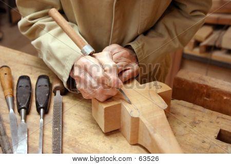 Carpinteiro no trabalho