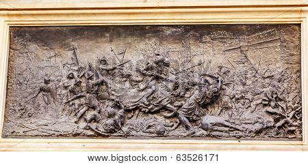 King Ferdinand Battle With Moors 1492 Isabella Colombus Statue Andalusia Granada Spain