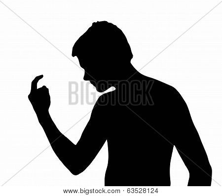 Teen Boy Silhouette Bully Calling