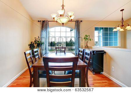 Dining Area With French Window.