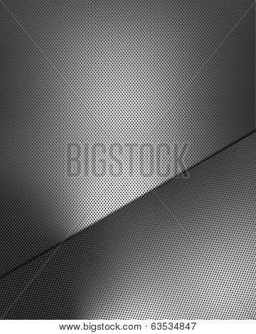 Metal Background With Metal Plate For Writing