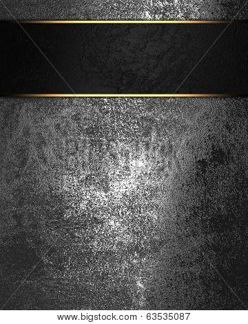 Grunge Metal Texture With Black Nameplate